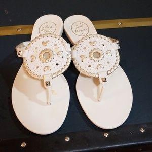 Jack rogers sandals cream 7